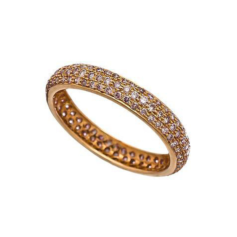 Sethi Couture 18K Rose Gold Pave Diamond Tire Band