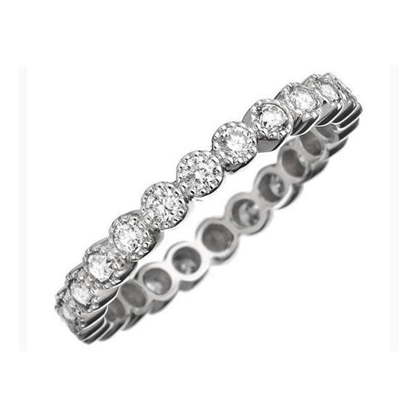 Sethi Couture 18K White Gold Bezel Set Diamond Eternity Band