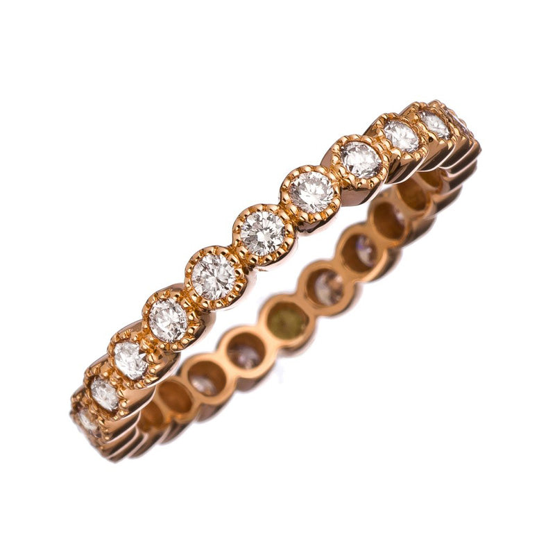 Sethi Couture 18K Rose Gold Bezel Set Diamond Eternity Band