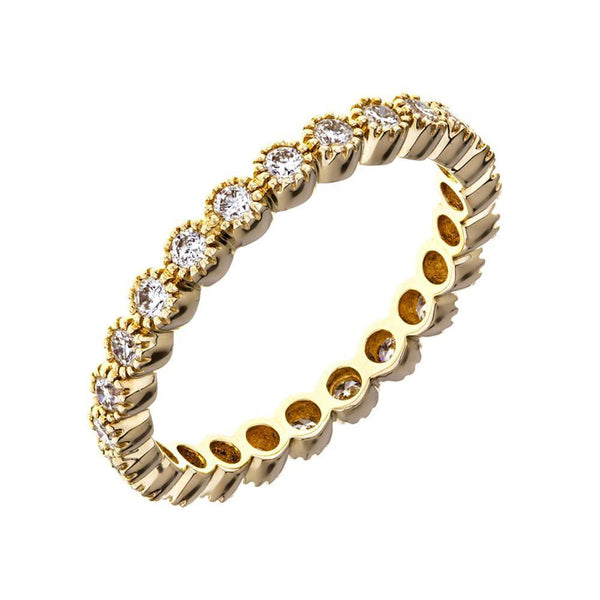 Sethi Couture 18K Yellow Gold Bezel Set Diamond Eternity Band