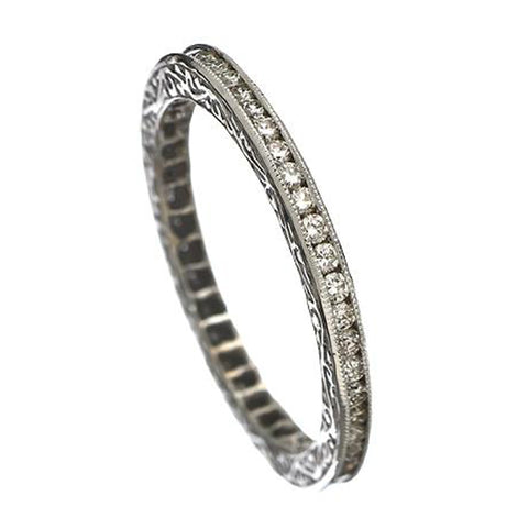 Sethi Couture 18K White Gold Channel Set Diamond Eternity Band