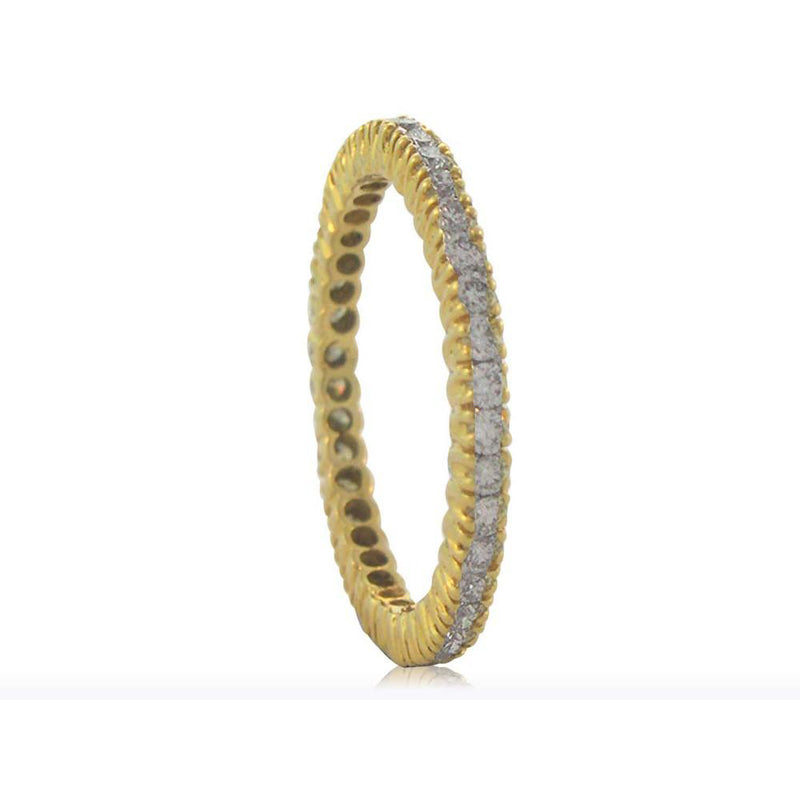 Sethi Couture eternity band with yellow gold and diamonds