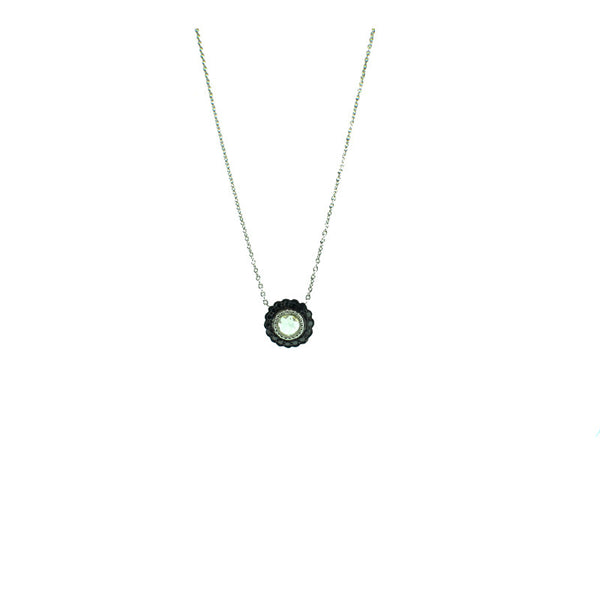 Sethi Couture Diamond Black Diamond and 18K White Gold Pendant