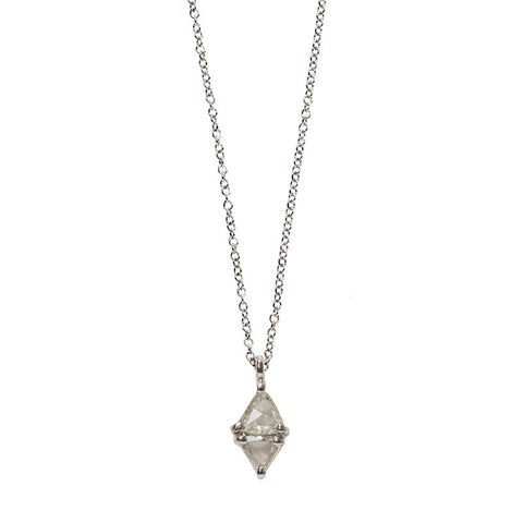 Sethi Couture Trillion Cut Diamond and 18K White Gold Pendant