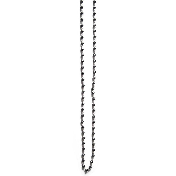 Sethi Couture Black Diamond and 18K White Gold Chain Necklace