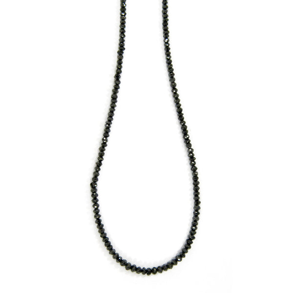 Sethi Couture Black Diamond Bead Necklace 18