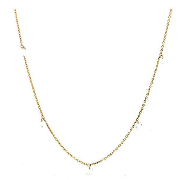 Sethi Couture Rose Cut Diamond Station Necklace