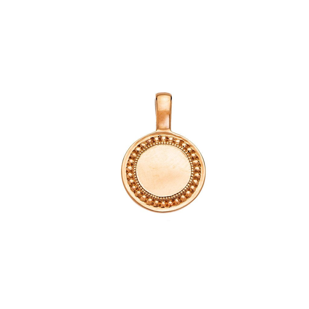 Sethi Couture 18KR P.S. Round Charm - Small
