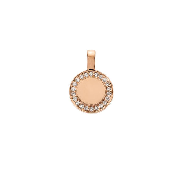 Sethi Couture 18KR P.S. Round Charm with Diamonds - Small