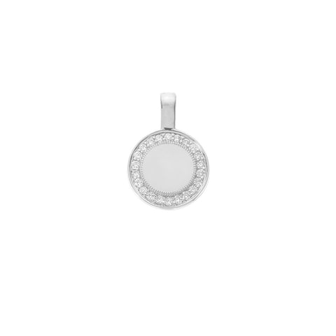 Sethi Couture 18KW P.S. Round Charm with Diamonds - Small