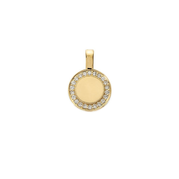 Sethi Couture 18KY P.S. Round Charm with Diamonds - Small