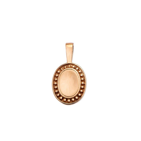 Sethi Couture 18KR P.S. Oval Charm - Small