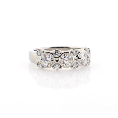 Suwa Diamond and Platinum Ring