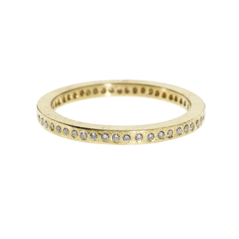 Todd Reed 18K Gold and Diamond Eternity Band