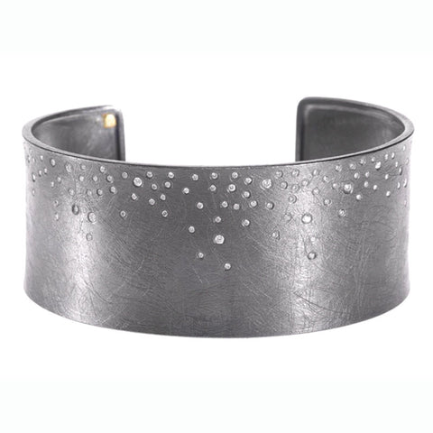 Todd Reed Sterling Silver and Diamond Cuff Bracelet