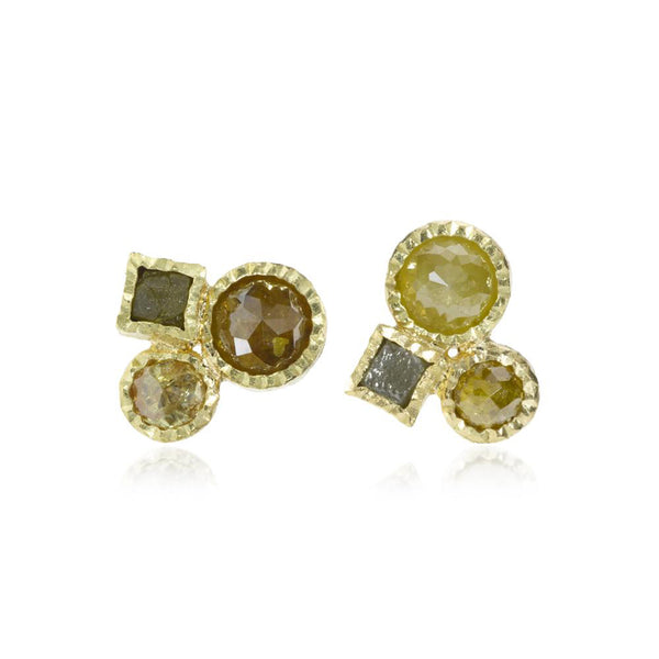 Todd Reed Small Diamond Cluster Stud Earrings