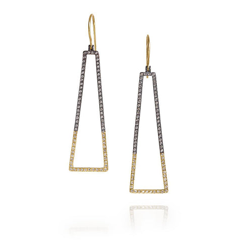 Todd Reed Large Geometric Diamond Earrings