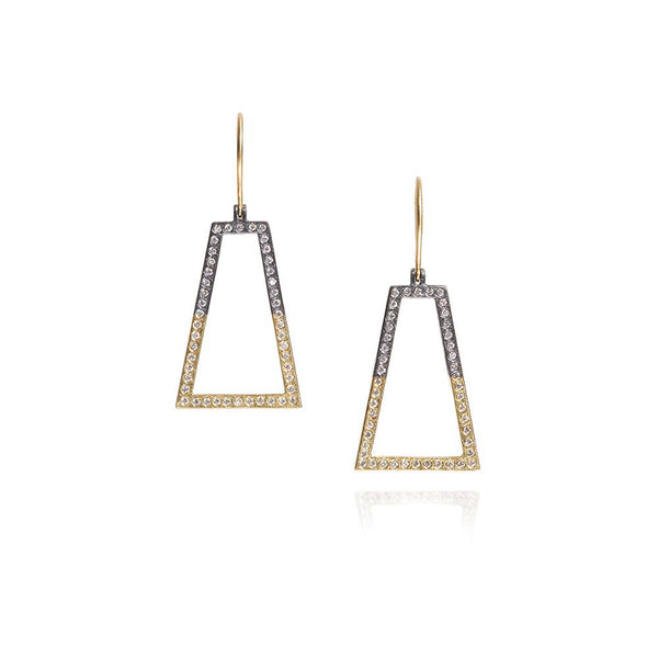 Todd Reed Mixed Metal Geometric Diamond Earrings