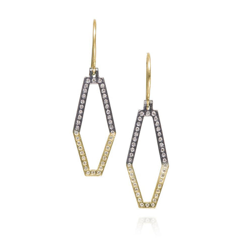 Todd Reed Small Geometric Diamond Earrings