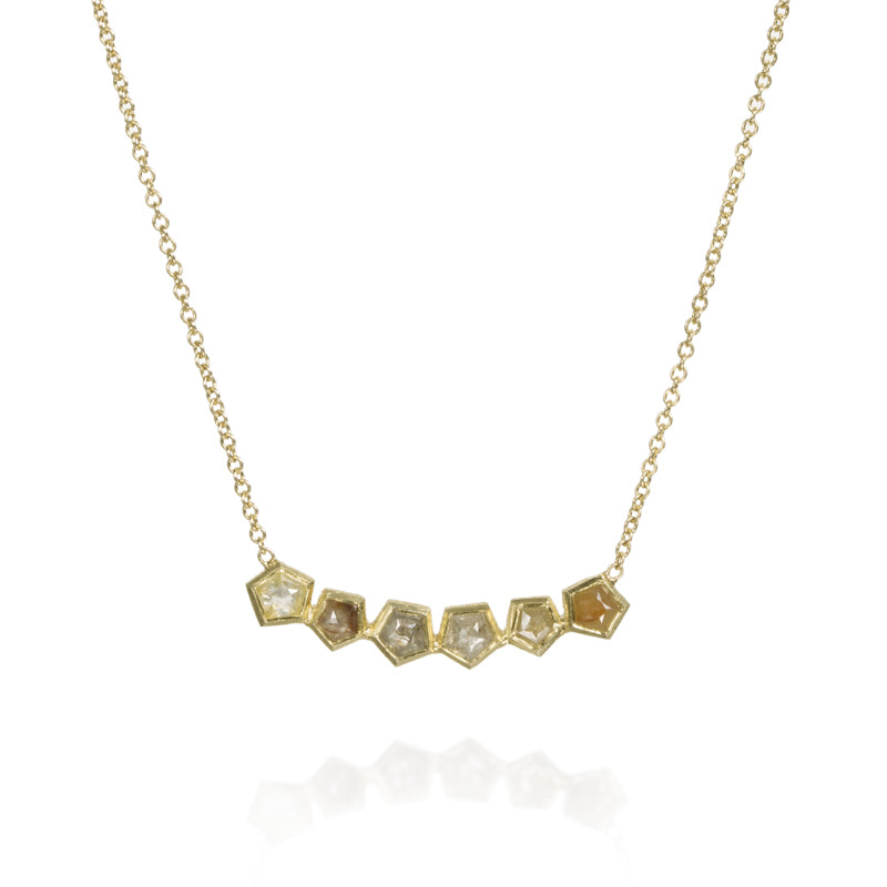 Todd Reed Hexagon Diamond Necklace