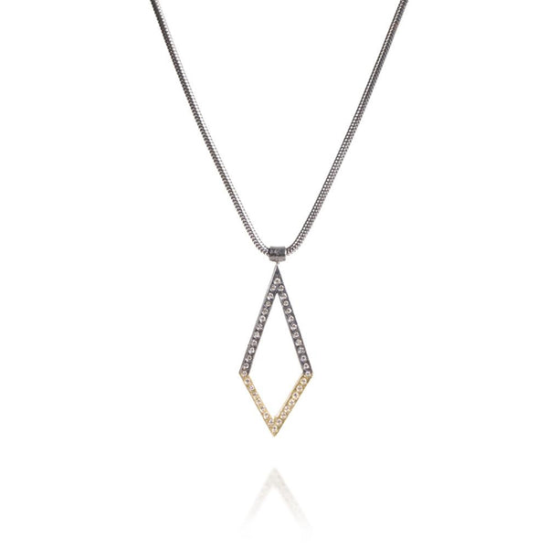 Todd Reed Mixed Metal Geometric Diamond Pendant