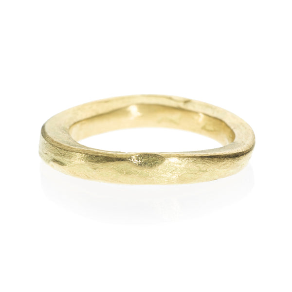 Organically shaped gold ring by Todd Reed