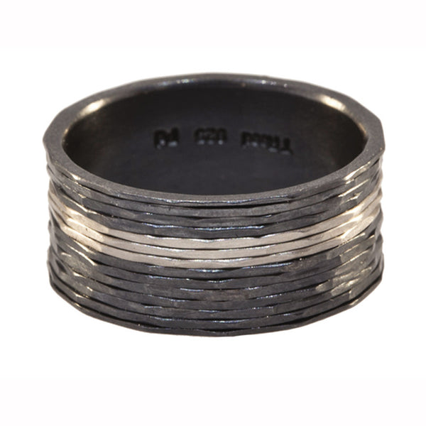 Todd Reed Palladium and Oxidized Sterling Silve Wire Wrap Band