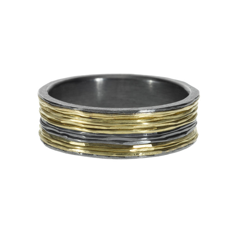 Todd Reed Sterling Silver and 18K Yellow Gold Band