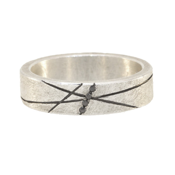 Todd Reed Black Diamond Sterling Silver Band