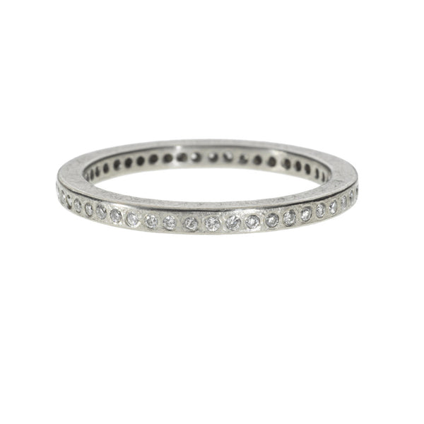Todd Reed palladium eternity rind with round diamonds set in 2mm band