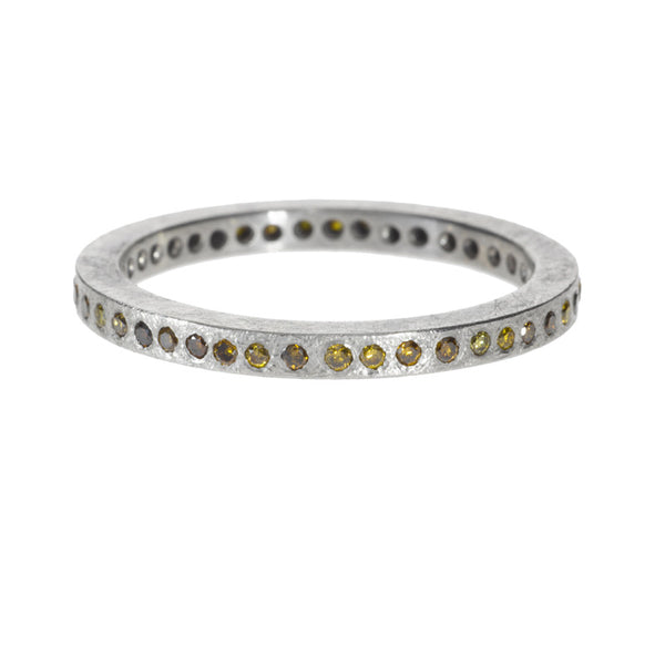 Todd Reed Fancy Diamond and Palladium Eternity Band