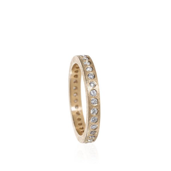 Todd Reed 18K Rose Gold and Diamond Eternity Band