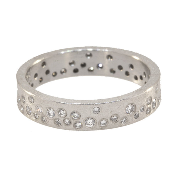 Todd Reed palladium eternity ring with round diamonds set in band
