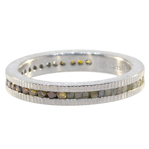 Todd Reed Fancy and Raw Diamond and Palladium Eternity Band