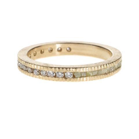 Todd Reed Diamond and 18K Rose Gold Eternity Band