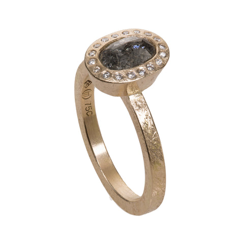 Todd Reed Oval Gray Diamond and 18K Rose Gold Ring