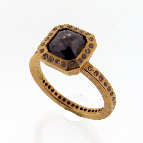 Todd Reed Fancy Cut Gray Diamond and 18K Rose Gold Ring