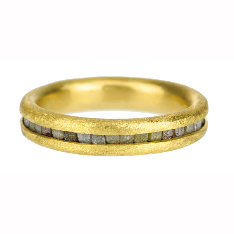 Todd Reed Raw Diamond 22K Gold and Sterling Silver Eternity Band