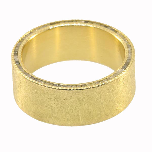 Todd Reed Raw Cubed Diamond and 18K Yellow Gold Band
