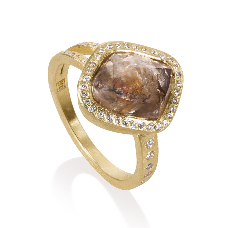 Todd Reed One-of-a-Kind Raw Diamond and 18K Yellow Gold Ring