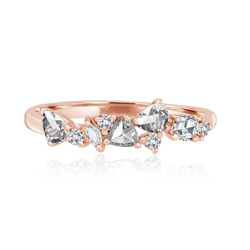 Vivaan 18K Rose Gold and Diamond Anniversary Ring