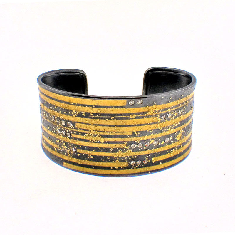 Atelier Zobel Diamond, 24K Gold and Sterling Silver Cuff