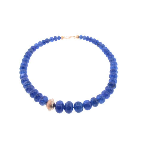 Atelier Zobel Tanzanite Bead and 18K Rose Gold Necklace