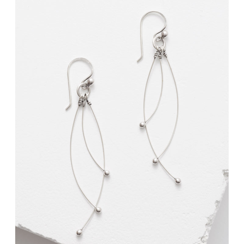 Zuzko Jewelry Sterling Silver Tickle Earrings