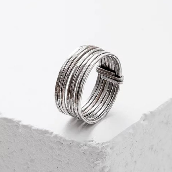 Zuzko hand forged stack of 7 silver rings