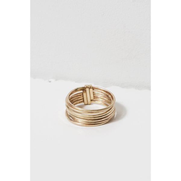 Zuzko Jewelry Gold Filled Stacked Short Ring