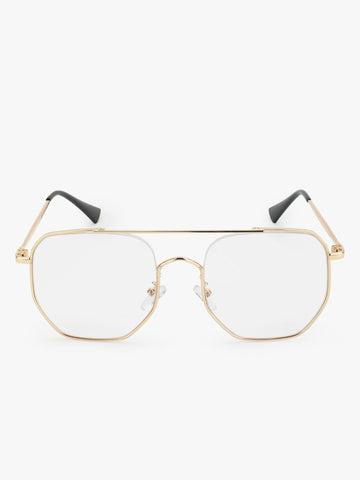 Vintage Gold Clear Glasses