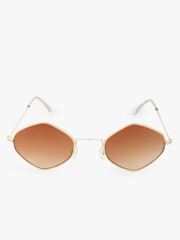 Brown Sunglasses With Gold Frames