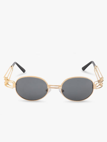 Black Sunglasses With Gold Frames