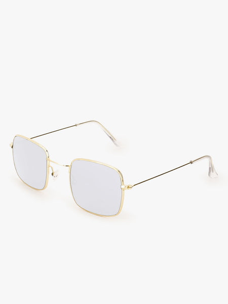 Square Blue Vintage Sunglasses